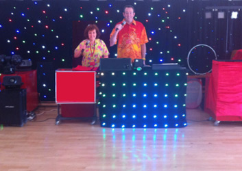 Charlie and Nikki performing discos for schools and preschools
