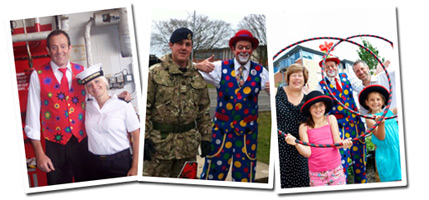Charlie is available for corporate & Millitary Events